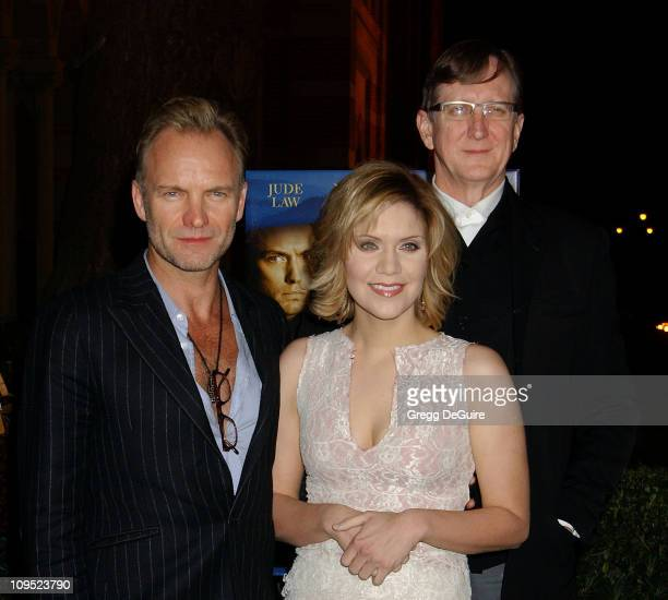 Sting Alison Krauss and TBone Burnett during The Words and Music of 'Cold Mountain' at Royce Hall in Westwood California United States