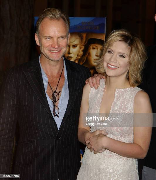 Sting and Alison Krauss during The Words and Music of 'Cold Mountain' at Royce Hall in Westwood California United States