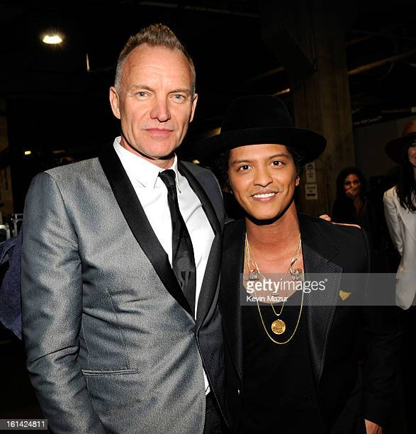 Sting and Bruno Mars attend the 55th Annual GRAMMY Awards at STAPLES Center on February 10 2013 in Los Angeles California