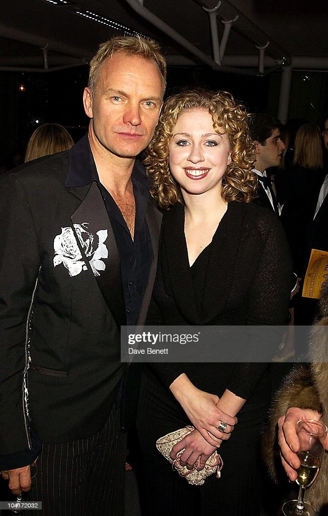 Sting And Chelsea Clinton, The Old Vic Theatre Benefit Party Held At The Old Vic Theatre London.