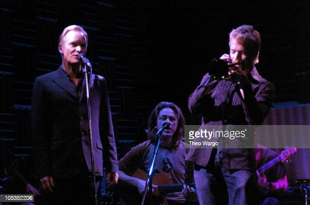 Sting and Dominic Miller during Dominic Miller Record Release Party and Performance at Joes Pub in New York City New York United States