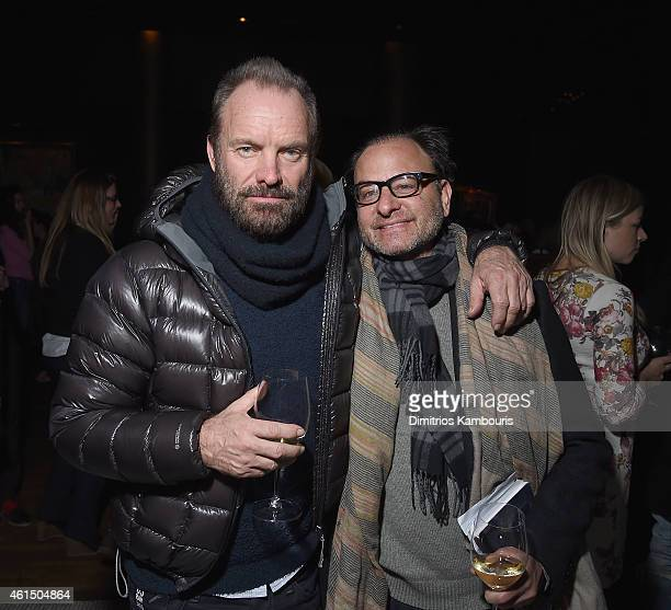 Sting and Fisher Stevens attend The Cinema Society with Montblanc and Dom Perignon screening of Sony Pictures Classics' 'Still Alice' after party at...
