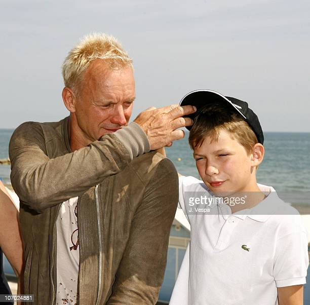 Sting and Giacomo Sumner during The 63rd International Venice Film Festival Guide to Recognizing Your Saints Lunch at Nikki Beach in Venice Lido Italy