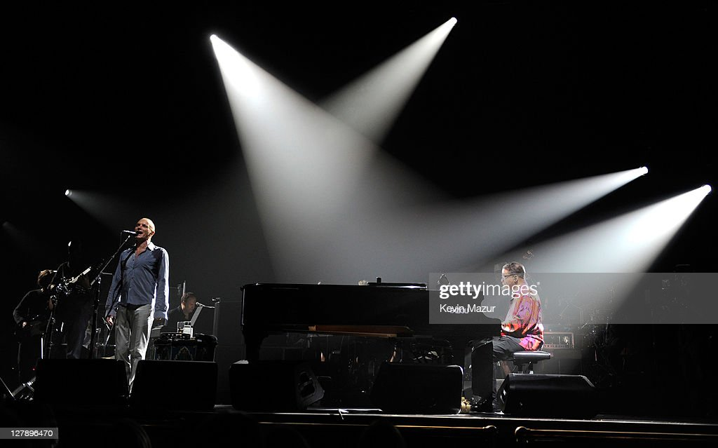 Sting and Herbie Hancock perform on stage during