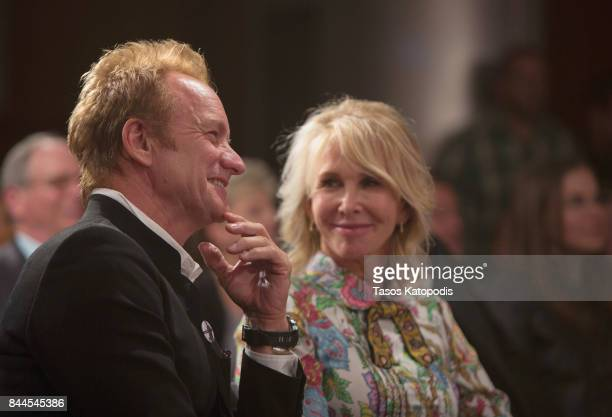 Sting and his wife Trudie Styler at Smithsonian National Museum Of American History on September 8 2017 in Washington DC