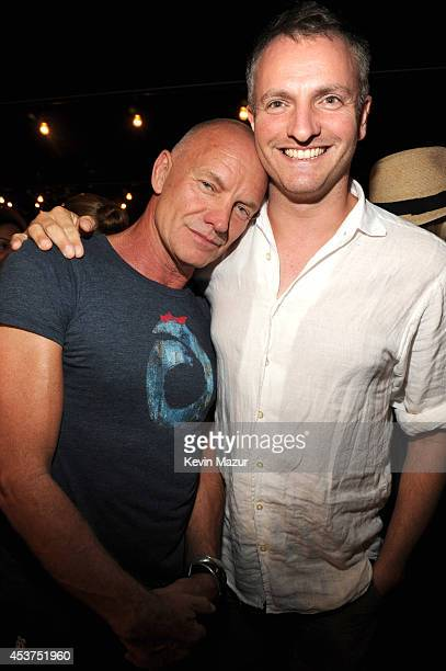 Sting and Joe Sumner attend Apollo in the Hamptons at The Creeks on August 16 2014 in East Hampton New York