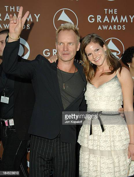 Sting and Kate Sumner during The 48th Annual GRAMMY Awards Arrivals at Staples Center in Los Angeles California United States