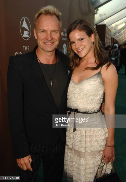 Sting and Kate Sumner during The 48th Annual GRAMMY Awards Green Carpet at Staples Center in Los Angeles California United States