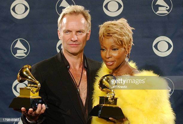 Sting and Mary J Blige winners of the Grammy for Best Pop Collaboration with Vocals