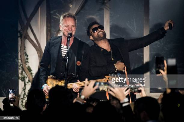 Sting and Shaggy attends the amfAR Gala Cannes 2018 at Hotel du CapEdenRoc on May 17 2018 in Cap d'Antibes France