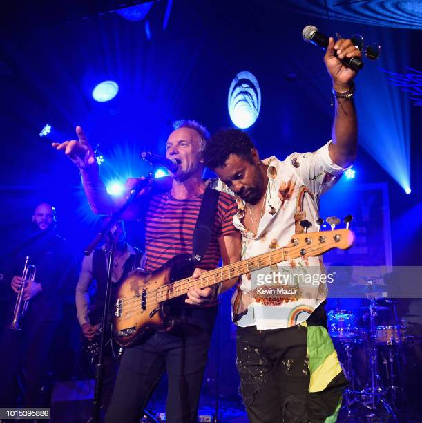 Sting and Shaggy perform onstage during Apollo in the Hamptons 2018 Hosted by Ronald O Perelman at The Creeks on August 11 2018 in East Hampton New...