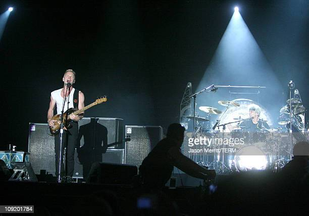 Sting and Stewart Copeland of The Police during Bonnaroo 2007 Day 2 The Police at What Stage in Manchester Tennessee United States