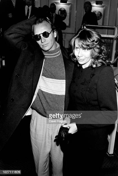 Sting and Trudie Styler attend an awards ceremony in London, circa 1980-84.