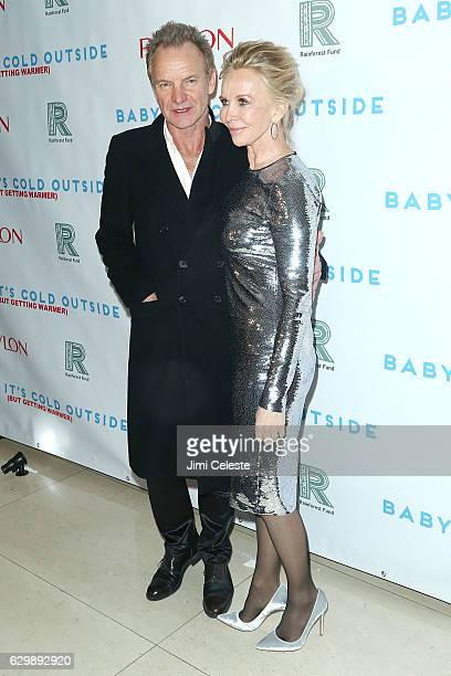 Sting and Trudie Styler attend 'Baby It's Cold Outside' The 2016 Revlon Holiday Concert For The Rainforest Fund Gala at JW Marriott Essex House on...
