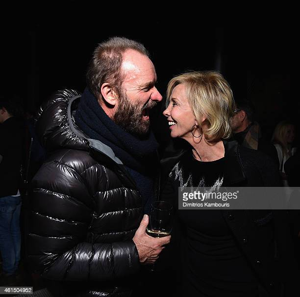 Sting and Trudie Styler attend The Cinema Society with Montblanc and Dom Perignon screening of Sony Pictures Classics' Still Alice after party at...