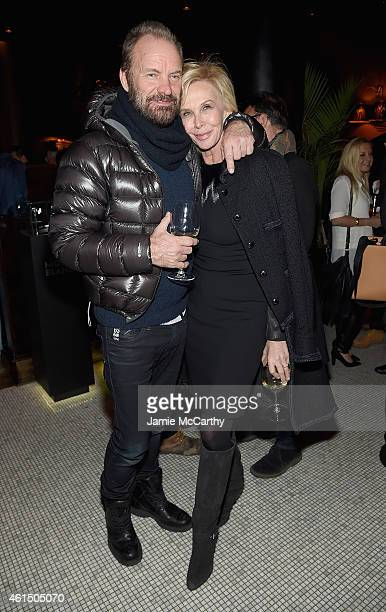 """Sting and Trudie Styler attend The Cinema Society with Montblanc and Dom Perignon screening of Sony Pictures Classics' """"Still Alice"""" after party at..."""