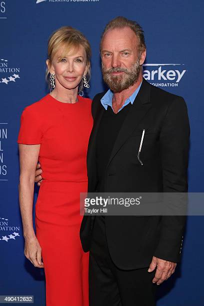 Sting and Trudie Styler attend the Clinton Global Initiative 2015 Global Citizen Awards at Sheraton Times Square on September 27 2015 in New York City