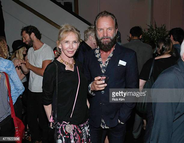 """Sting and Trudie Styler attend """"The End Of The Tour"""" Opening Night Screening - After Party - BAMcinemaFest 2015 at Brooklyn Masonic Temple on June..."""
