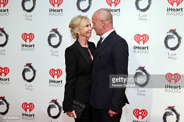 Sting and Trudie Styler attend the The Last Ship Broadway opening night after party at Pier 60 on October 26 2014 in New York City