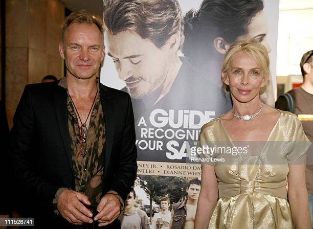 Sting and Trudie Styler during 2006 Cannes Film Festival 'A Guide To Recognizing Your Saints' Premiere at Olympia Cinema in Cannes France