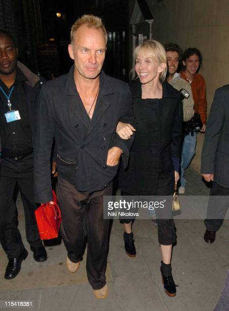 Sting and Trudie Styler during Celebrity Sightings at Muse of Mayfair October 4 2006 at Bond Street in London Great Britain