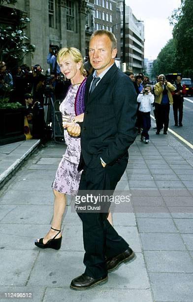 Sting and Trudie Styler during Ivor Novello Awards 1998 in London Great Britain