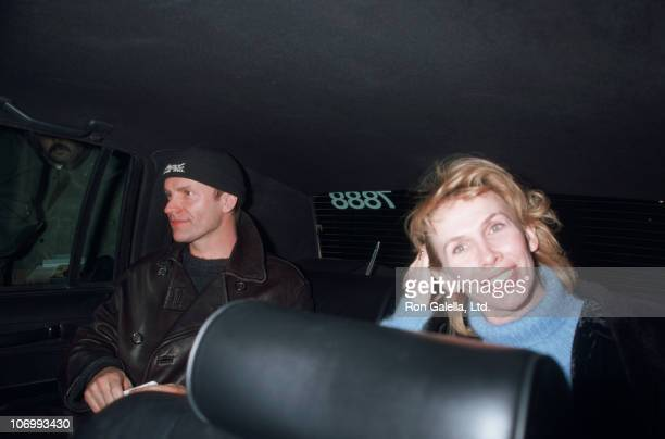 Sting and Trudie Styler during Sting and Trudie Styler Sighting at Union Square Theater in New York City January 29 1995 at Union Squre Theater in...