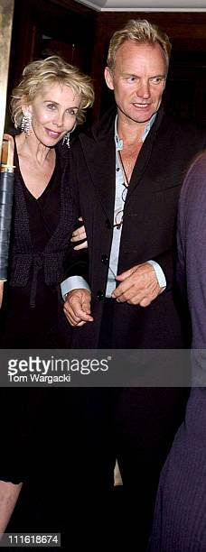Sting and Trudie Styler during Sting and Trudie Styler Sighting at The Ivy in London September 27 2005 at The Ivy in London Great Britain