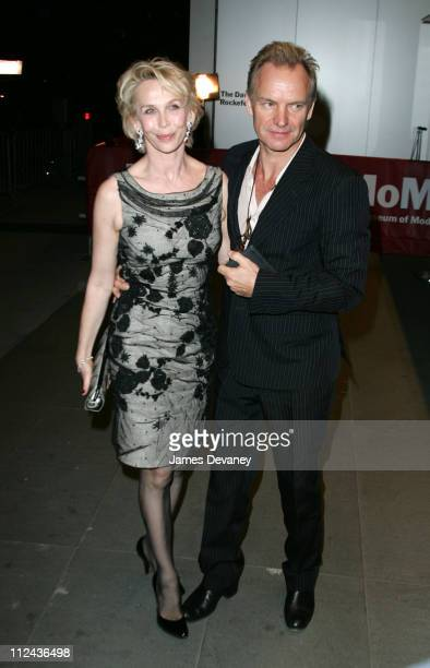 Sting and Trudie Styler during TRH The Prince of Wales and The Duchess of Cornwall Attend the Museum of Modern Art Gala at Museum of Modern Art in...