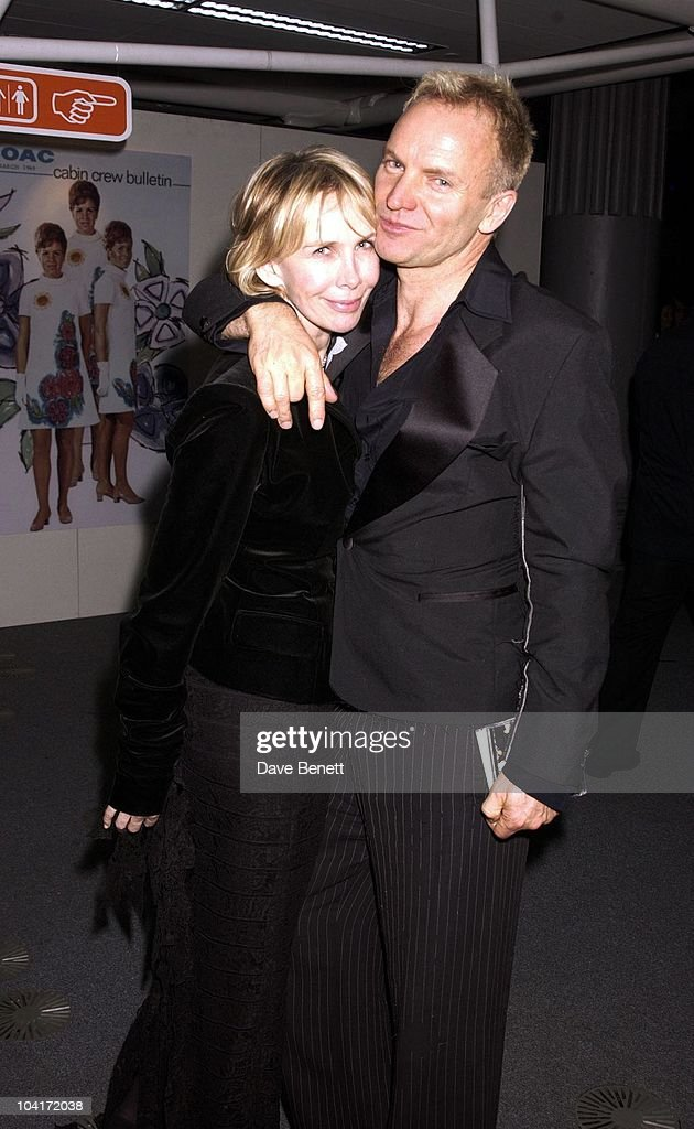 Sting And Trudie Styler, The Old Vic Theatre Benefit Party Held At The Old Vic Theatre London.