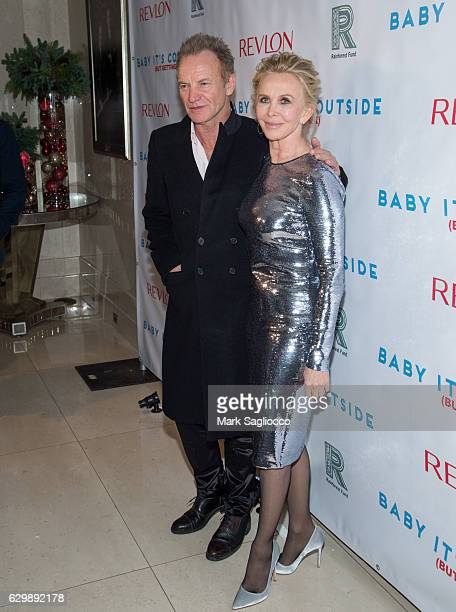 Sting and Trudie Styler wearing Tom Ford attends the 'Baby It's Cold Outside' 2016 Revlon Holiday Concert For The Rainforest Fund Gala at JW Marriott...