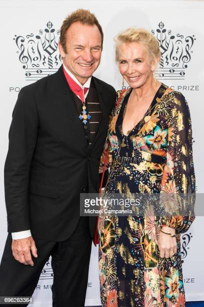 Sting and wife Trudie Styler attend an award ceremony for the Polar Music Prize at Konserthuset on June 15, 2017 in Stockholm, Sweden.