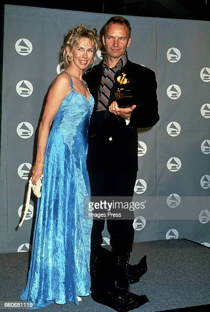 Sting and wife Trudie Styler attend the 36th Annual Grammy Awards held at Radio City Music Hall circa 1994 in New York City