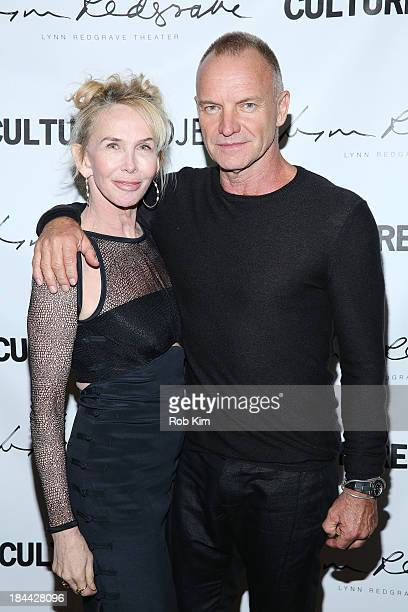 """Sting and wife Trudie Styler attend The Culture Project's """"The Seagull"""" opening night party at B Bar and Grill on October 13, 2013 in New York City."""