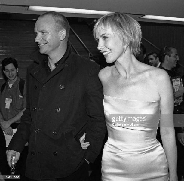 Sting and wife Trudie Styler backstage at the VH1 Fashion Awards in October 1998 in New York City New York