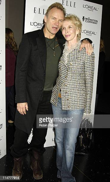 Sting and wife Trudie Styler during Derailed New York City Premiere at Loews Theatre Lincoln Square in New York City New York United States