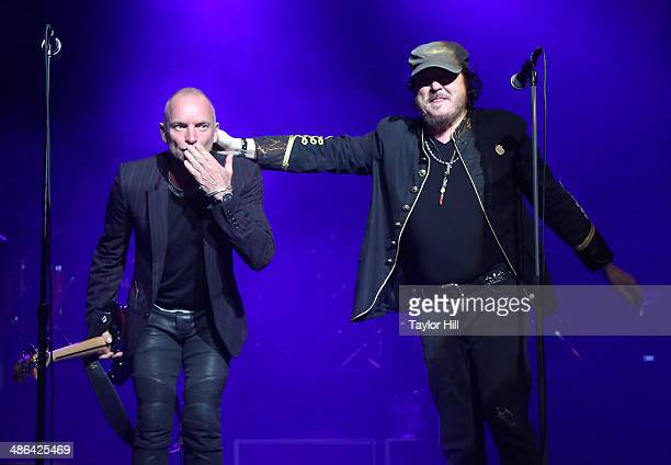 Sting and Zucchero perform at The Theater at Madison Square Garden on April 23 2014 in New York City