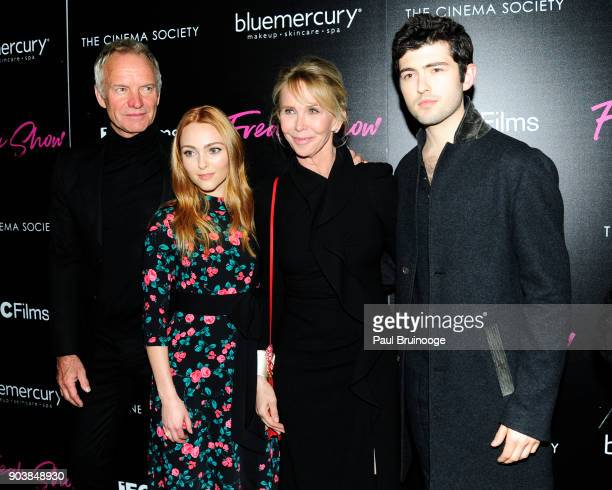 Sting AnnaSophia Robb Trudie Styler and Ian Nelson attend The Cinema Society Bluemercury host the premiere of IFC Films' 'Freak Show' at Landmark...