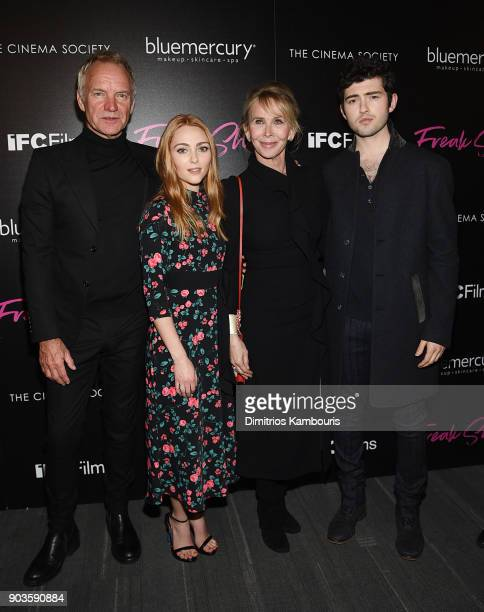 Sting AnnaSophia Robb Trudie Styler and Ian Nelson attend the premiere of IFC Films' 'Freak Show' hosted by The Cinema Society at Landmark Sunshine...