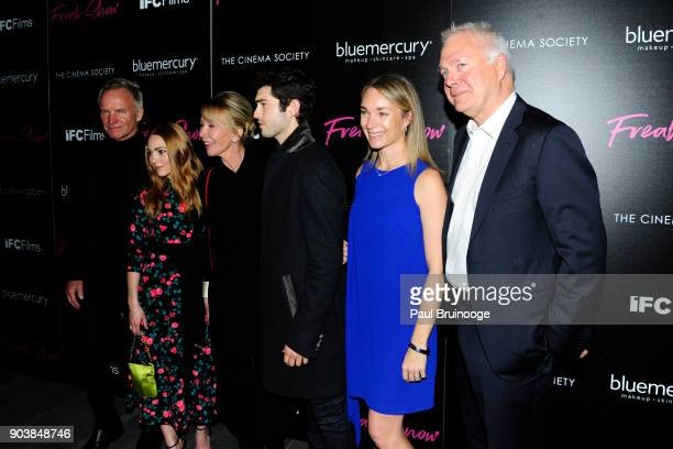 Sting AnnaSophia Robb Trudie Styler Ian Nelson Celine Rattray and Jonathan Sehring attend The Cinema Society Bluemercury host the premiere of IFC...