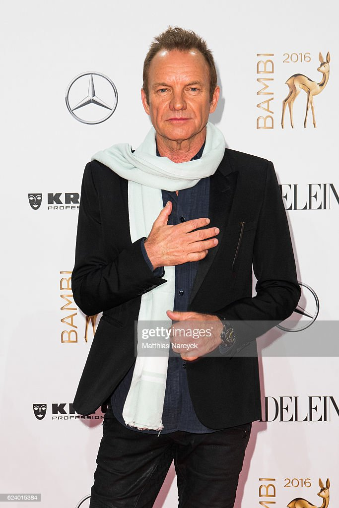 Sting arrives at the Bambi Awards 2016 at Stage Theater on November 17, 2016 in Berlin, Germany.