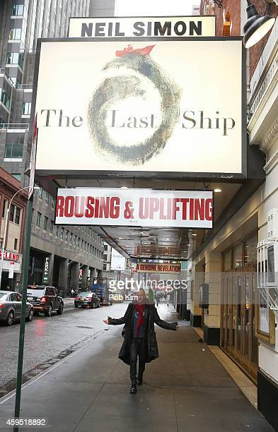 Sting attends a media call for The Last Ship which will be coming soon to Broadway at the Neil Simon Theatre on November 24 2014 in New York City