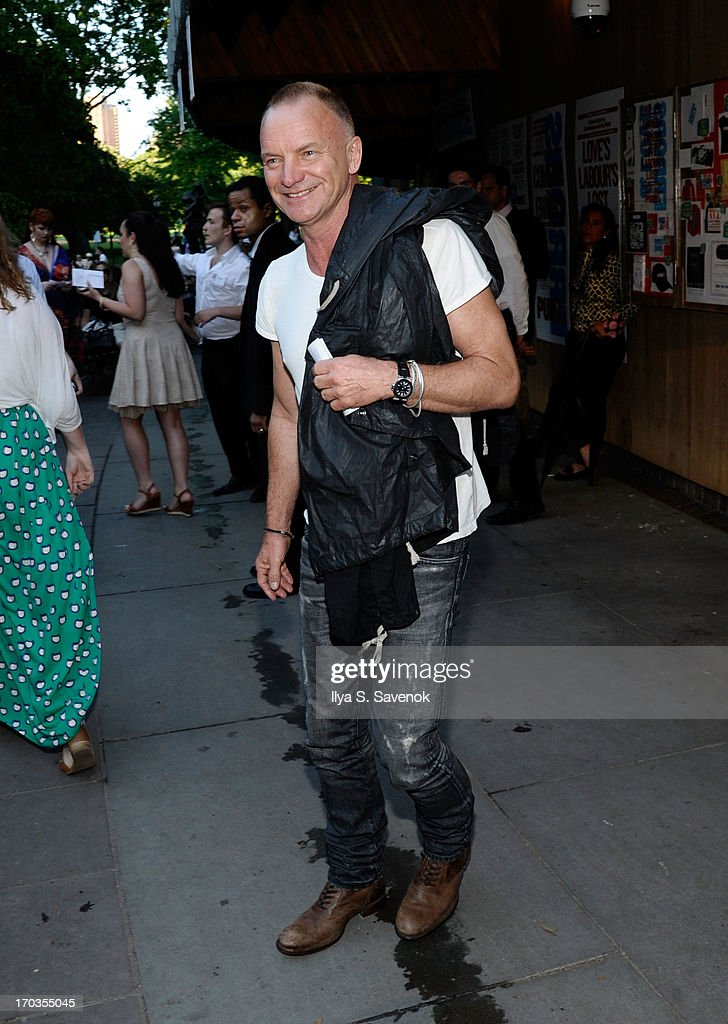 Sting attends Annual Public Theater Gala at Delacorte Theater on June 11, 2013 in New York City.