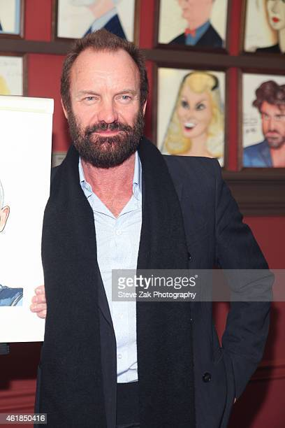Sting attends his caricature unveiling at Sardi's on January 20 2015 in New York City