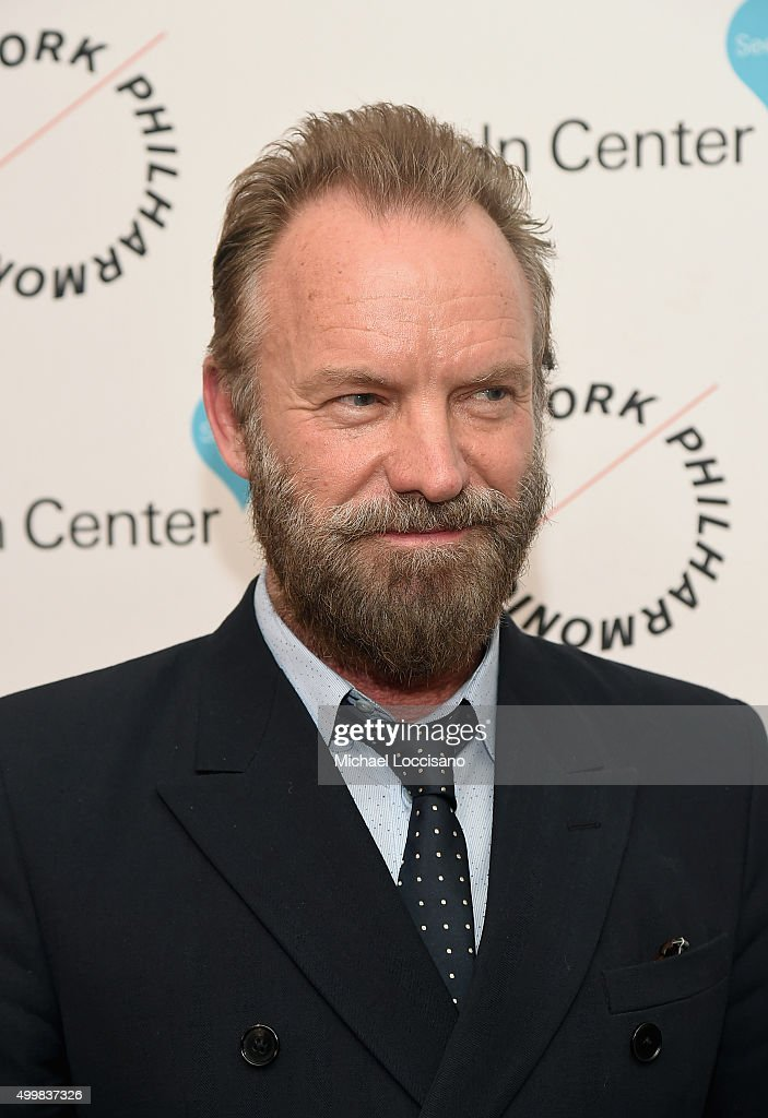 Sting attends Sinatra Voice for A Century Event at David Geffen Hall on December 3, 2015 in New York City.