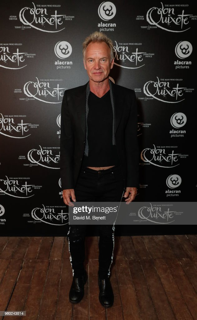 Sting attends the Alacran Pictures party, celebrating the premiere of The Man Who Killed Don Quixote following the 71st annual Cannes Film Festival on May 19, 2018 in Cannes, France.