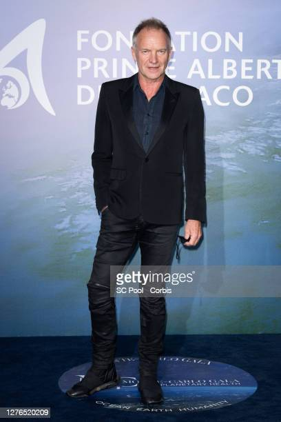 Sting attends the Monte-Carlo Gala For Planetary Health on September 24, 2020 in Monte-Carlo, Monaco.