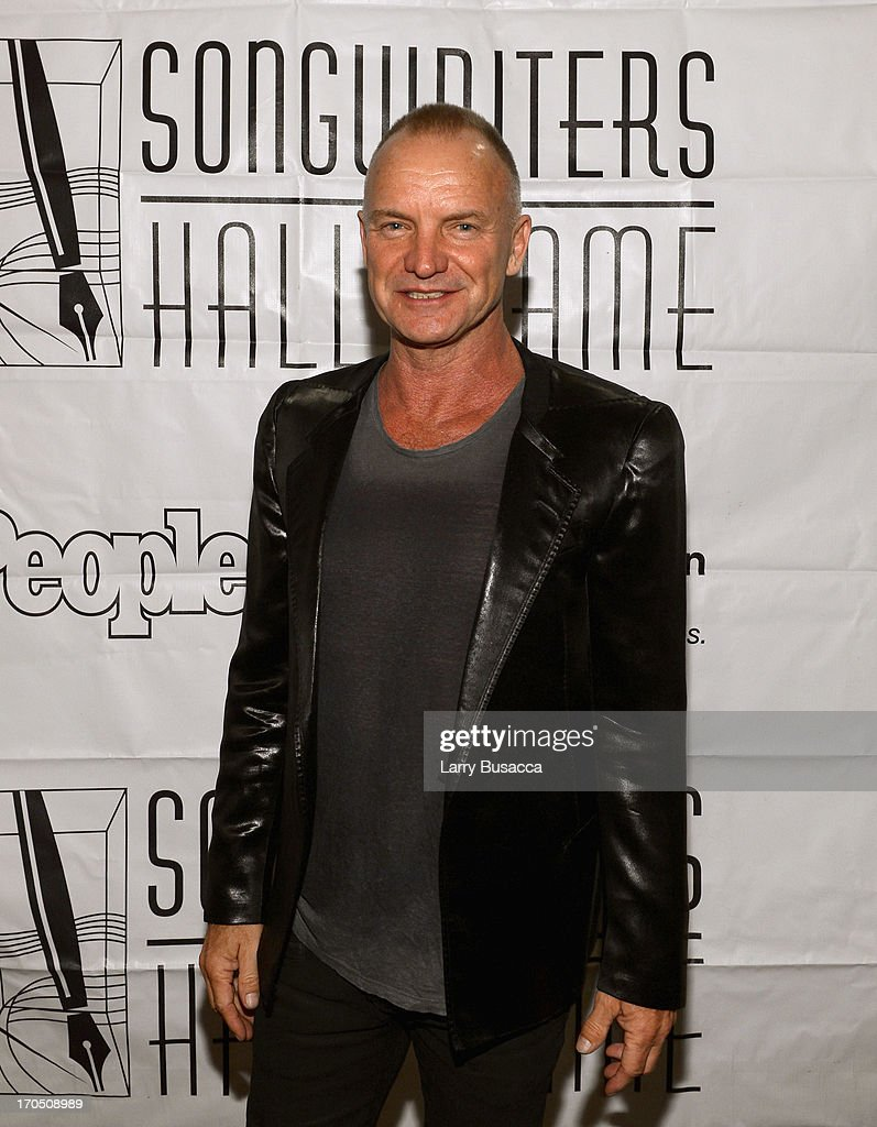 Sting attends the Songwriters Hall of Fame 44th Annual Induction and Awards Dinner at the New York Marriott Marquis on June 13, 2013 in New York City.