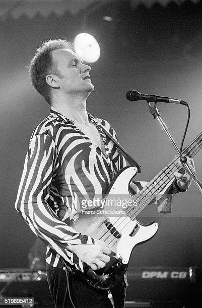 Sting, bass and vocals, performs at the Paradiso on March 10th 1996 in Amsterdam, Netherlands.