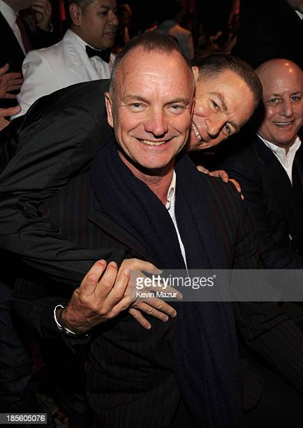 Sting Bryan Adams and Ron Perelman attend TJ Martell Foundation's 38th Annual Honors Gala at Cipriani 42nd Street on October 22 2013 in New York City
